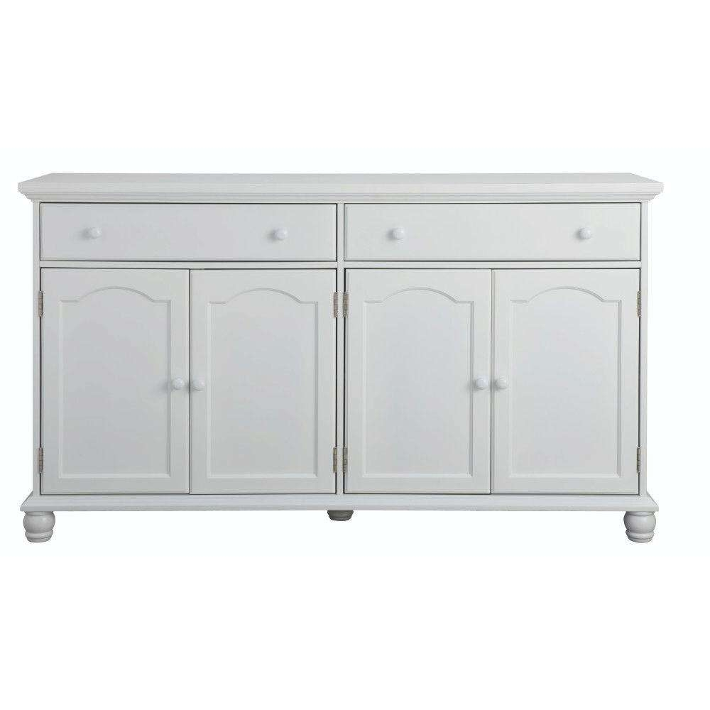 White – Sideboards & Buffets – Kitchen & Dining Room Furniture Regarding Kitchen Sideboards Buffets (View 20 of 20)