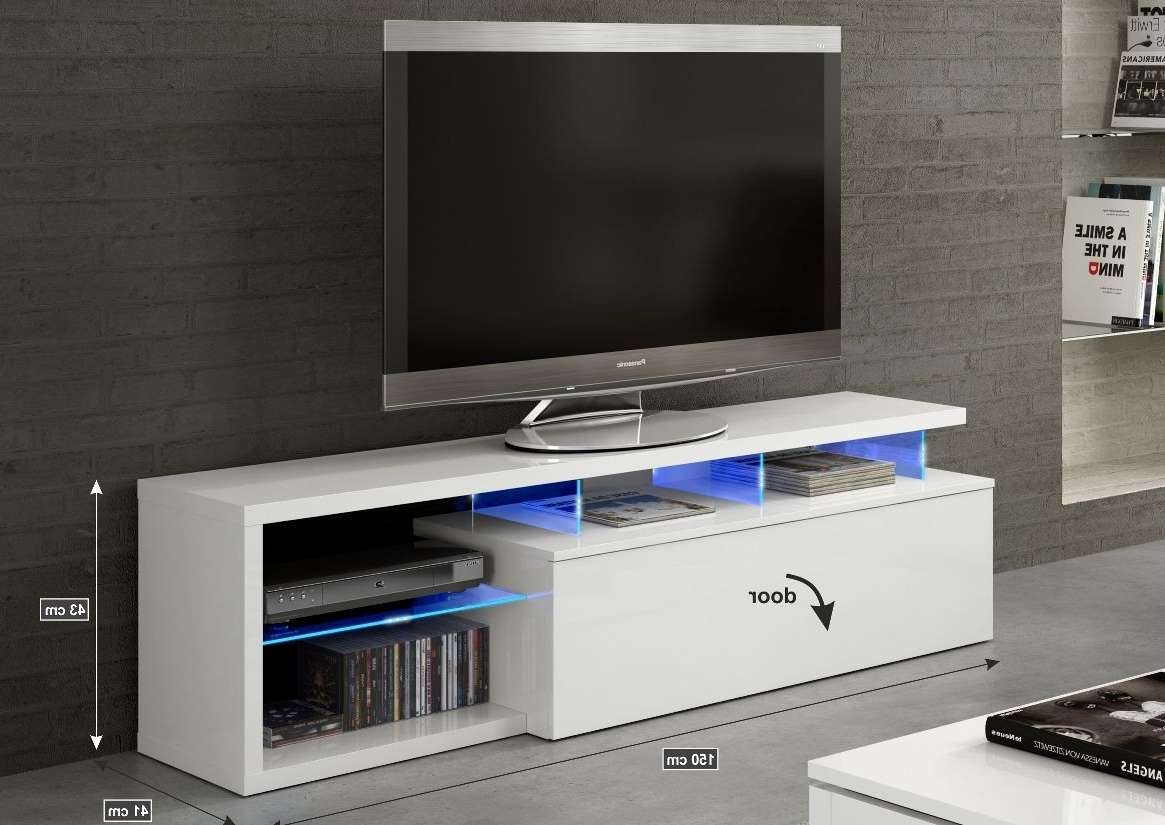 White Soft Gloss Tv Cabinet Entertainment Unit 026630bo In Tv Cabinets Gloss (View 14 of 20)