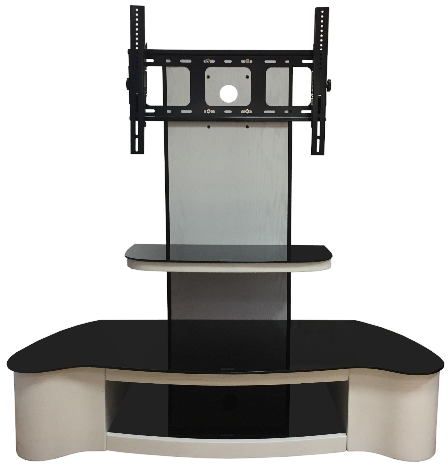 """White Tv Stand Wooden Tv Unit Tv Cabinet With Bracket For 32"""" 65 With Regard To White Tv Cabinets (View 15 of 20)"""