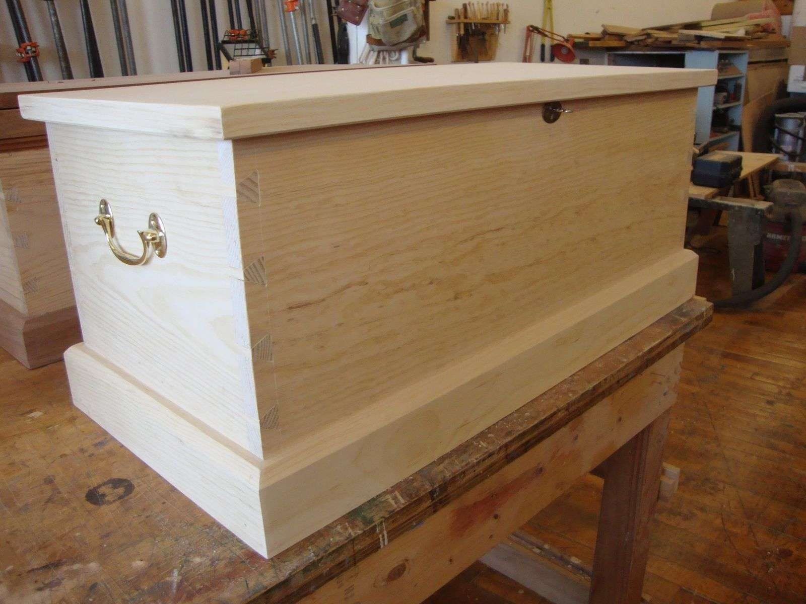 Widely Used Blanket Box Coffee Tables Within Hand Made Sea Chest / Blanket Chest / Coffee Tablecannsworks (View 3 of 20)
