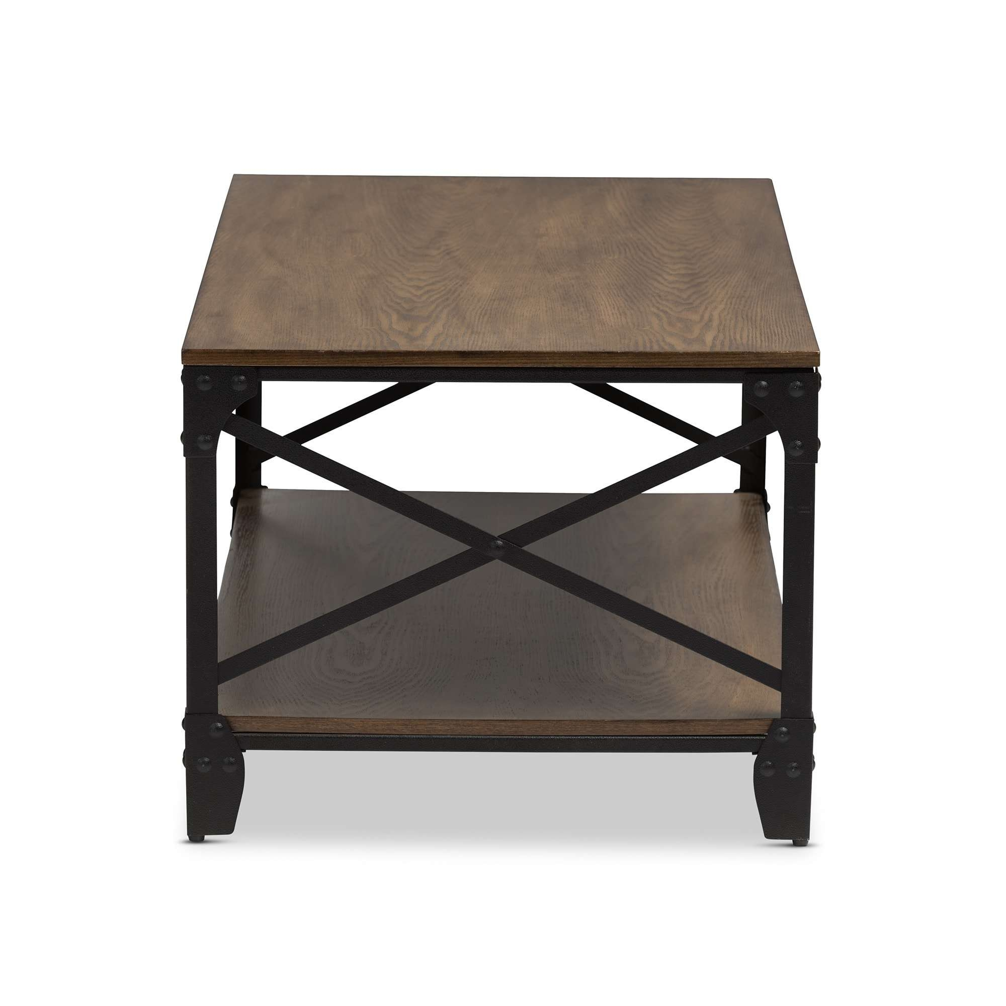 Widely Used Bronze Coffee Tables Inside Baxton Studio Greyson Industrial Bronze Coffee Table – Free (View 12 of 20)
