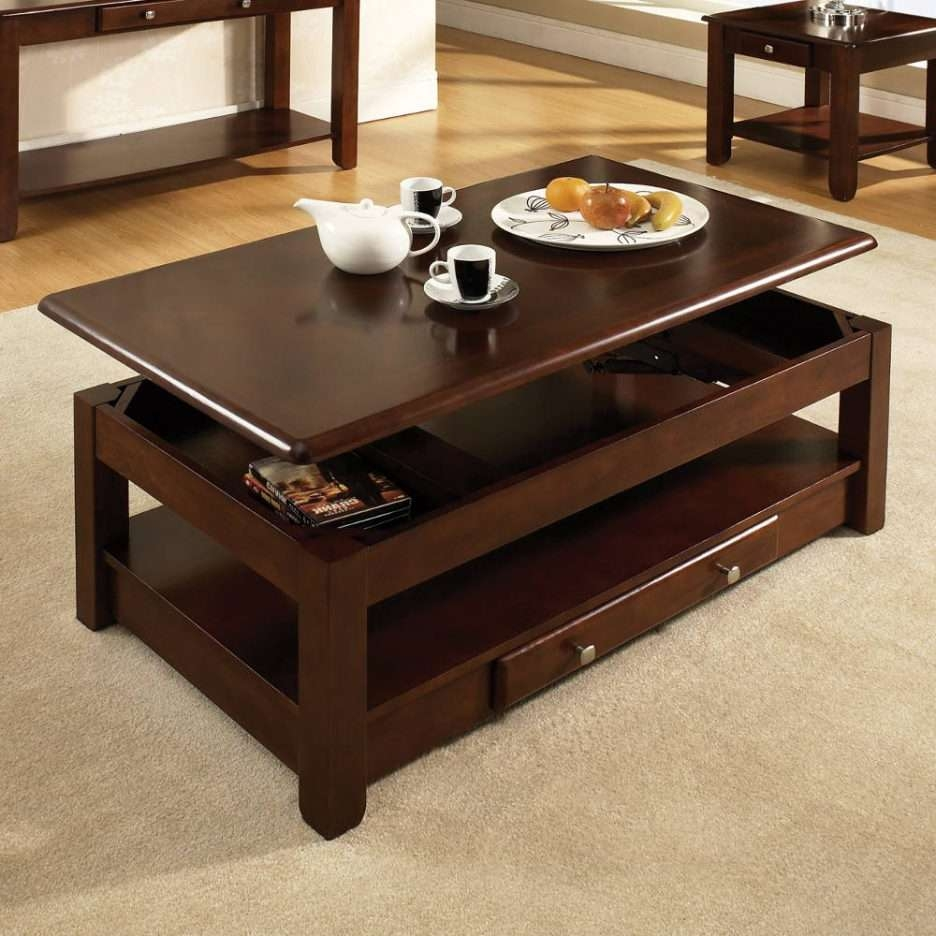 Widely Used Cheap Lift Top Coffee Tables Within Coffee Tables : Splendid Top Coffee Table Black Finish Square Lift (View 11 of 20)