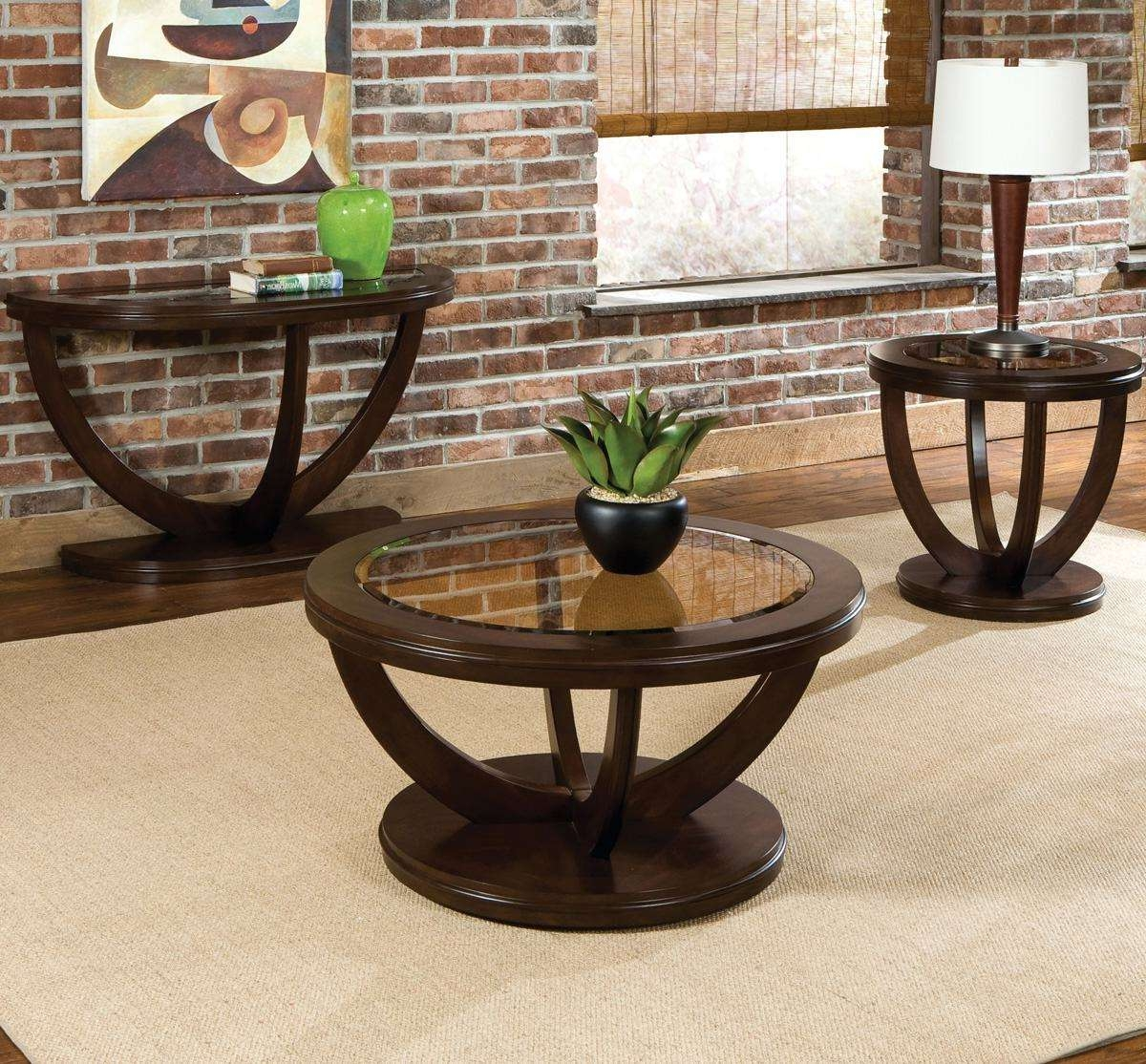 Widely Used Cherry Wood Coffee Table Sets Inside Standard Furniture La Jolla 3 Piece Coffee Table Set In Cherry (View 17 of 20)