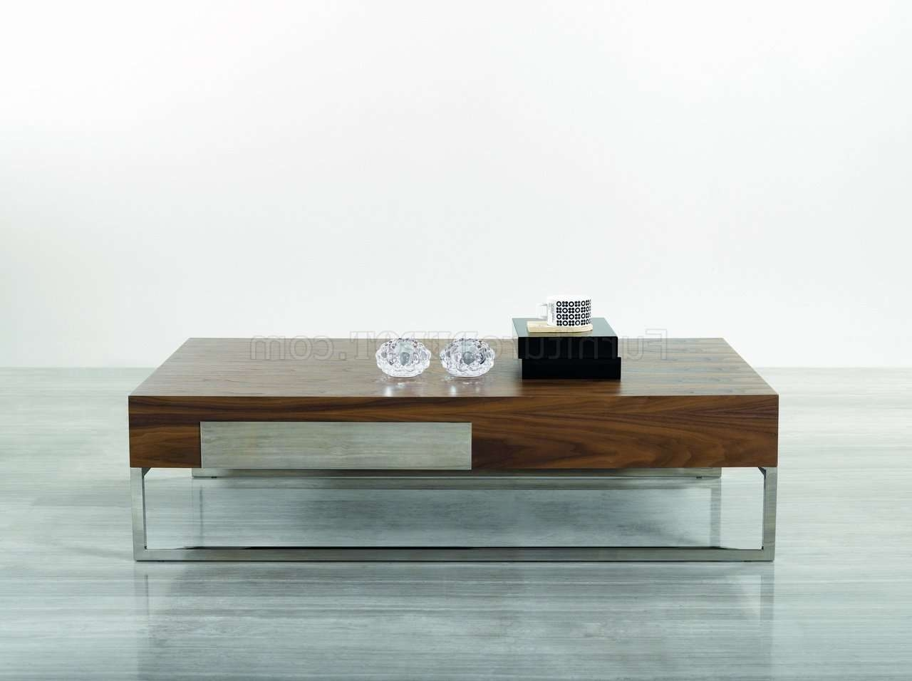 Widely Used Chrome Leg Coffee Tables Within 107a Coffee Tablej&m W/chrome Legs (View 13 of 20)