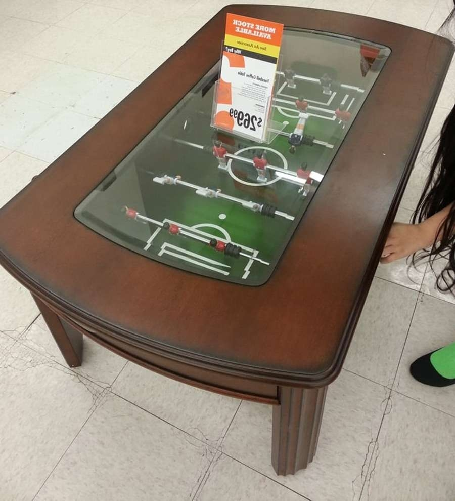 View Photos Of Coffee Table With Stools Showing Of Photos - Foosball coffee table with stools