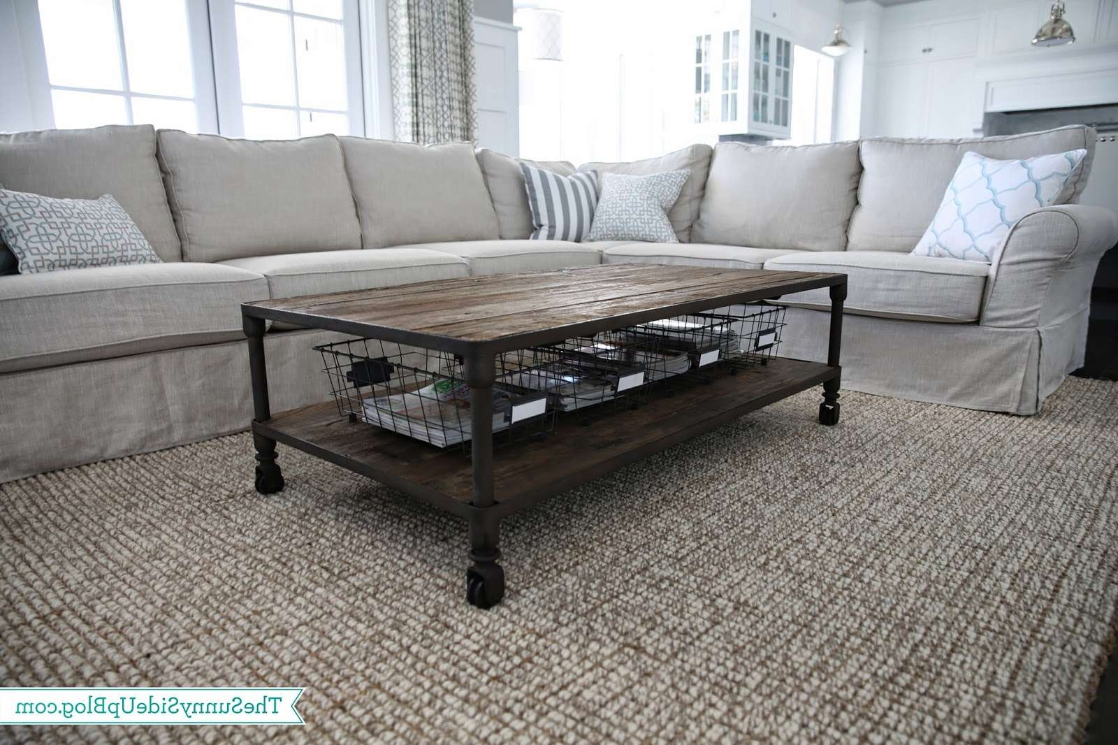 Widely Used Coffee Tables With Basket Storage Underneath With Regard To Coffee Table With Baskets Under Addicts Basket Storage Under / Thippo (View 7 of 20)