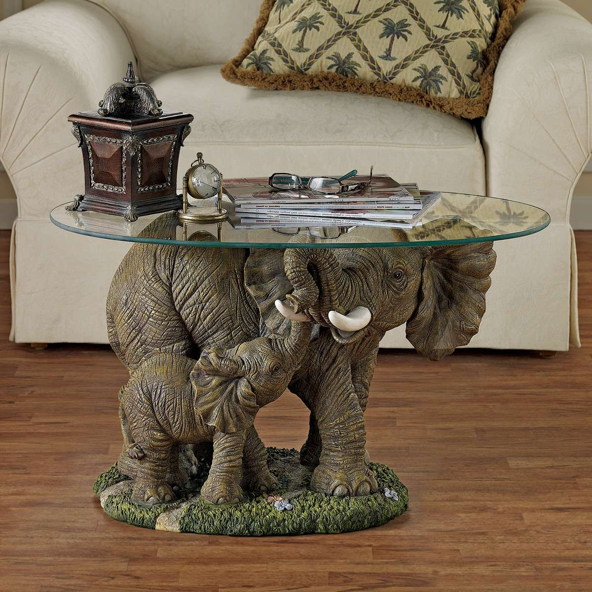 Widely Used Elephant Glass Coffee Tables Within 7 Unique Coffee Tables With Sculpture Base – Cute Furniture (View 6 of 20)