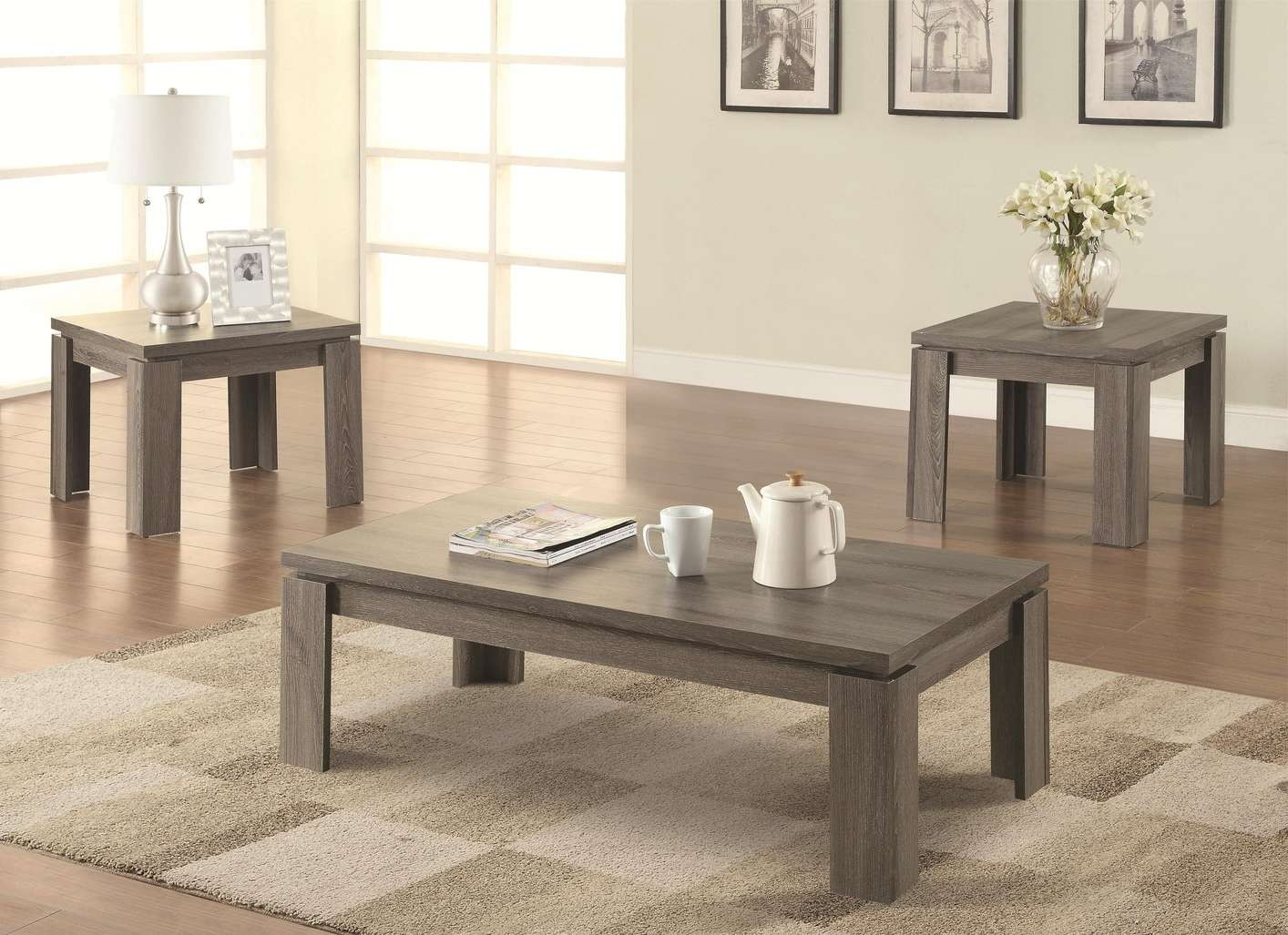 Widely Used Grey Coffee Table Sets Intended For Sleek And Stylish Coffee Table Sets – Bestartisticinteriors (View 2 of 20)