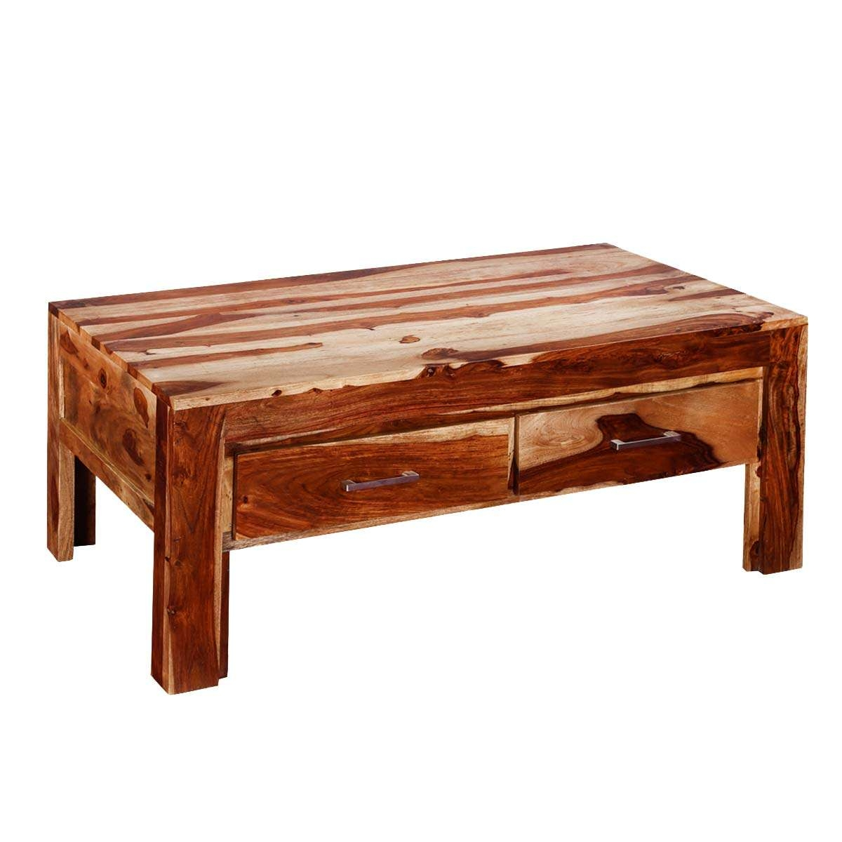 "Widely Used Indian Coffee Tables With Regard To Frontier Indian Rosewood 45"" Coffee Table W Drawers (View 20 of 20)"