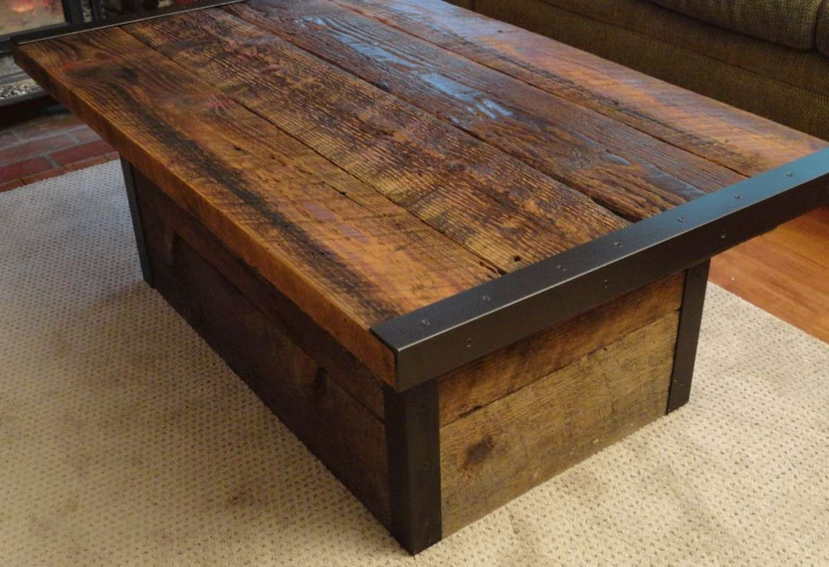 Widely Used Large Trunk Coffee Tables Throughout Coffee Table : How To Accessorize A Rustic Square Coffee Table (View 19 of 20)