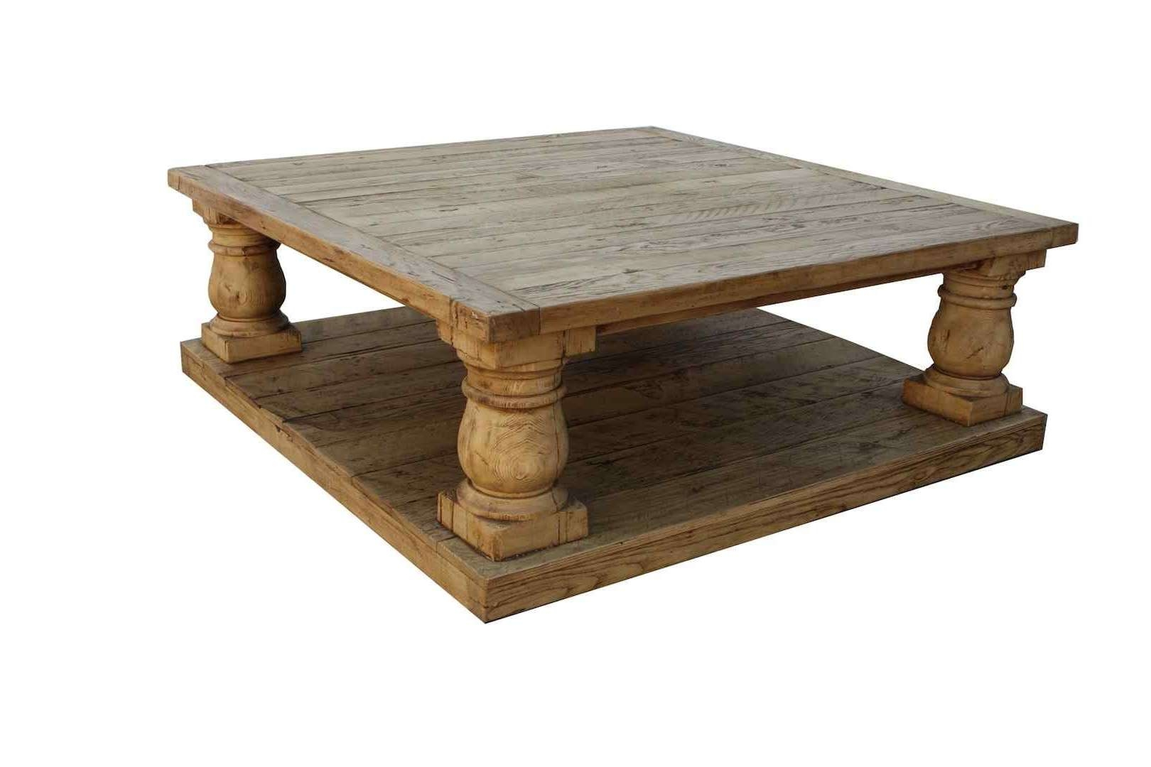 Widely Used Large Wood Coffee Tables With Regard To Jolly Provence Reclaimed Wood Coffee Table Balustrade Salvaged (View 20 of 20)