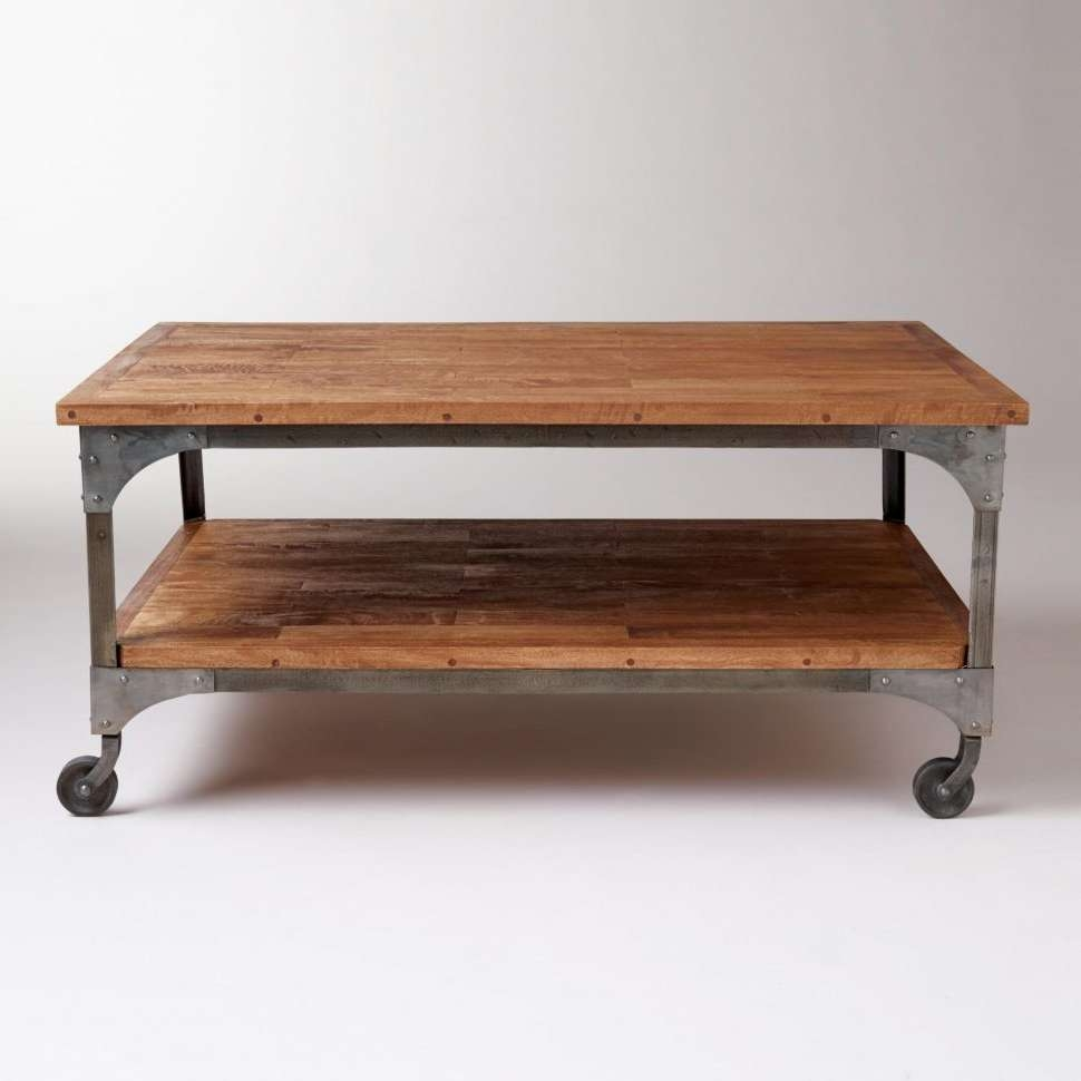 used industrial furniture. Widely Used Low Industrial Coffee Tables For : Wood And Metal Aiden Table Furniture I