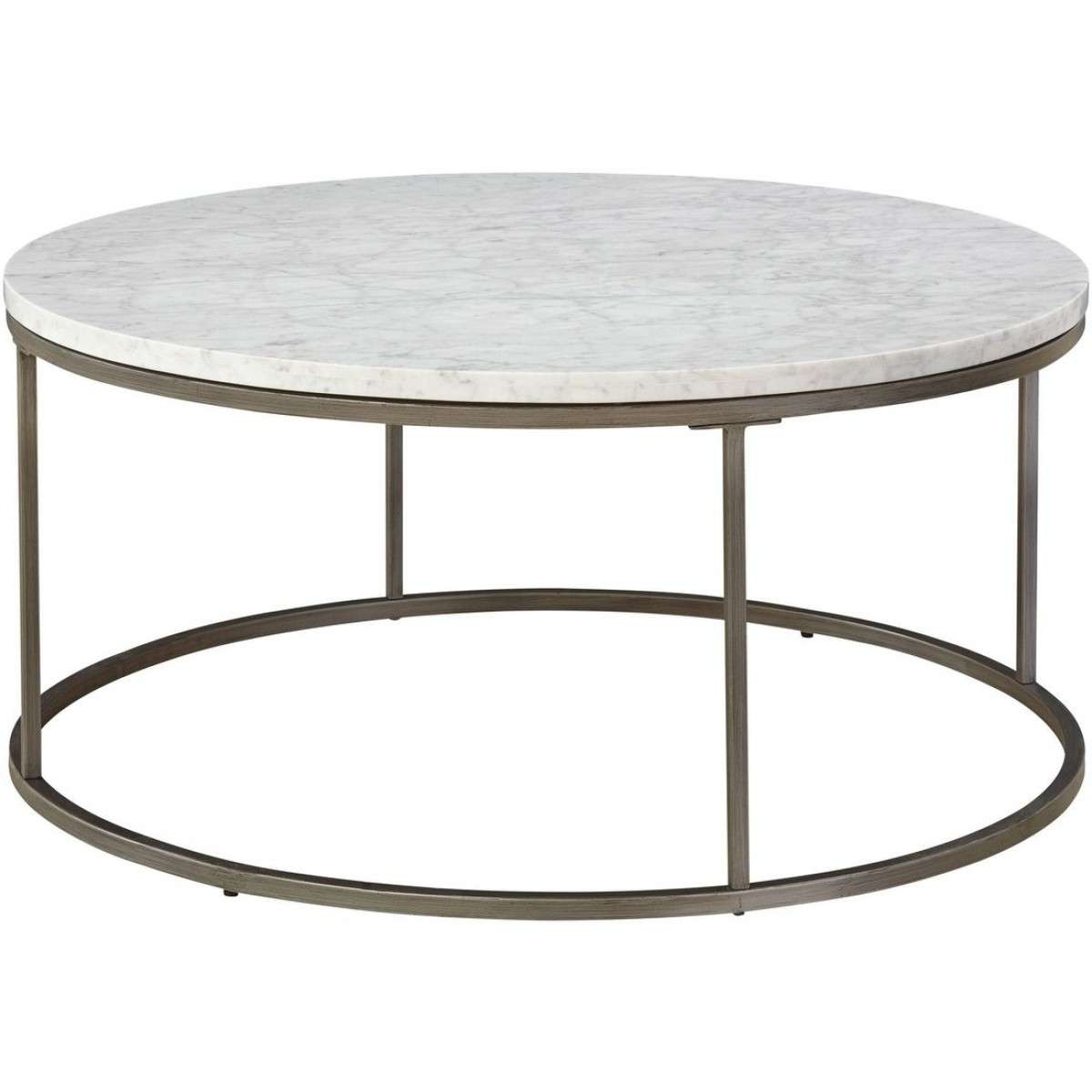 Widely Used Marble Round Coffee Tables Within Alana Round Coffee Table With White Marble Top (View 13 of 20)