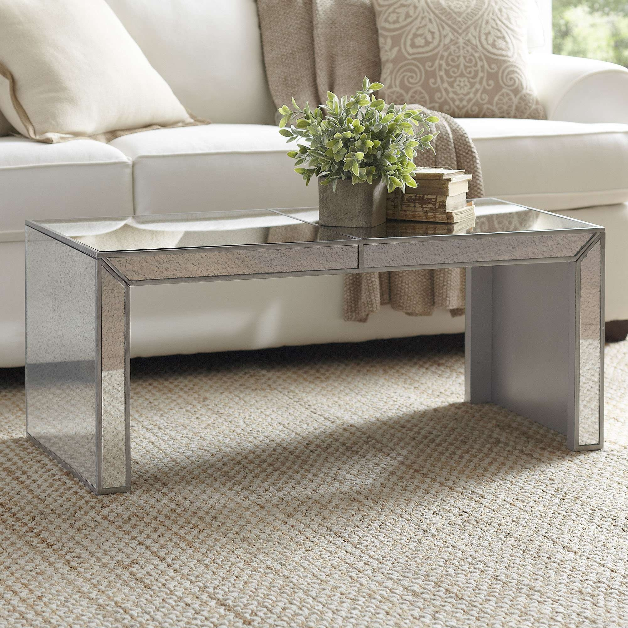 Widely Used Mirrored Coffee Tables Intended For Elliott Mirrored Coffee Table & Reviews (View 8 of 20)