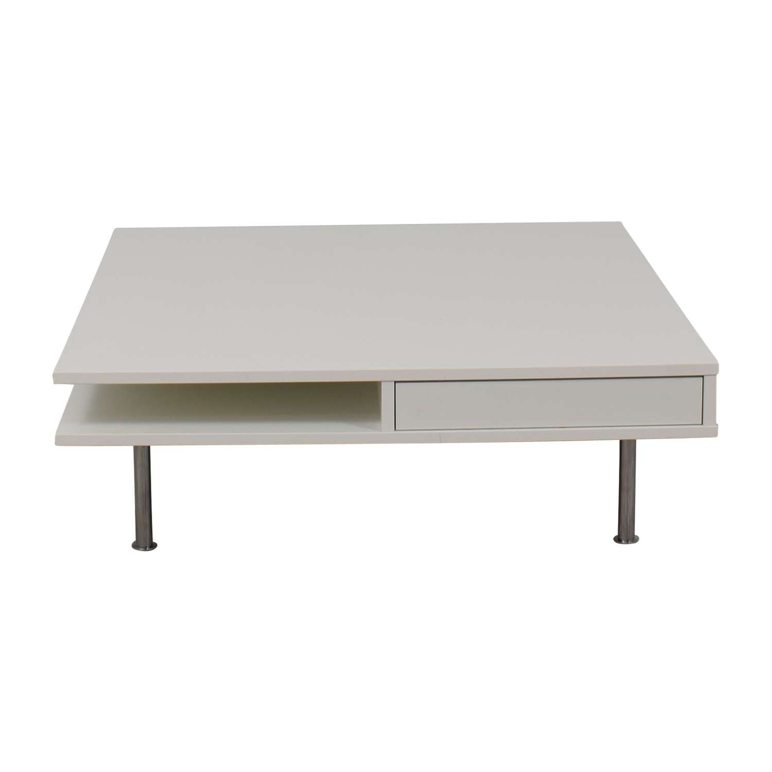 [%Widely Used Modern Coffee Tables Inside 62% Off – White Modern Coffee Table / Tables|62% Off – White Modern Coffee Table / Tables In Well Liked Modern Coffee Tables%] (View 1 of 20)
