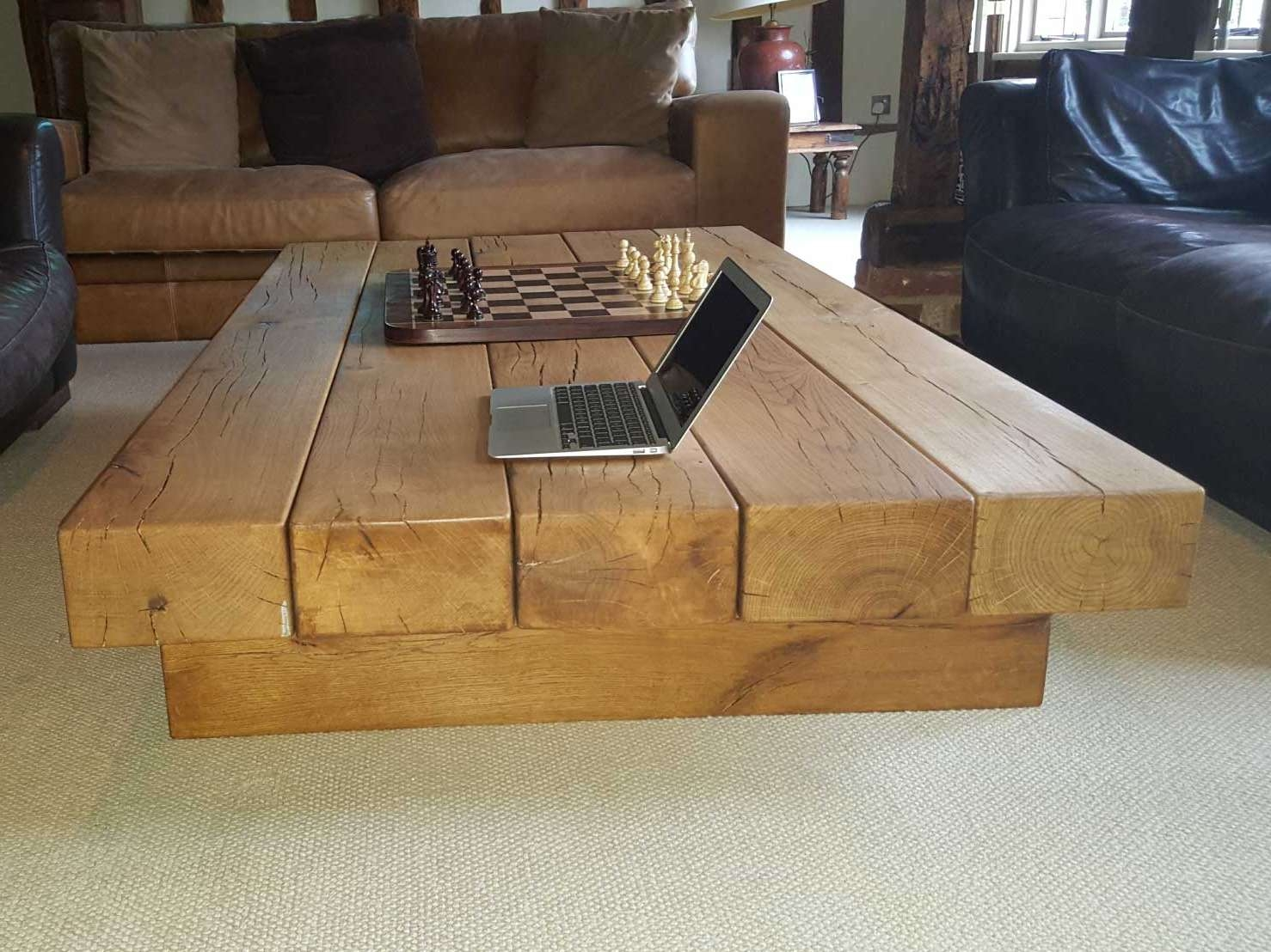 Widely Used Oak Beam Coffee Tables Within Large Oak Beam Coffee Table Uk Made From Abacus Tables Arabica (View 19 of 20)