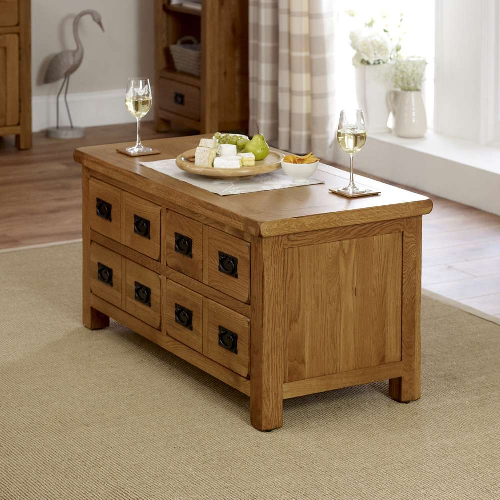 Widely Used Oak Storage Coffee Tables With Coffee Table Rustic – Writehookstudio (View 20 of 20)