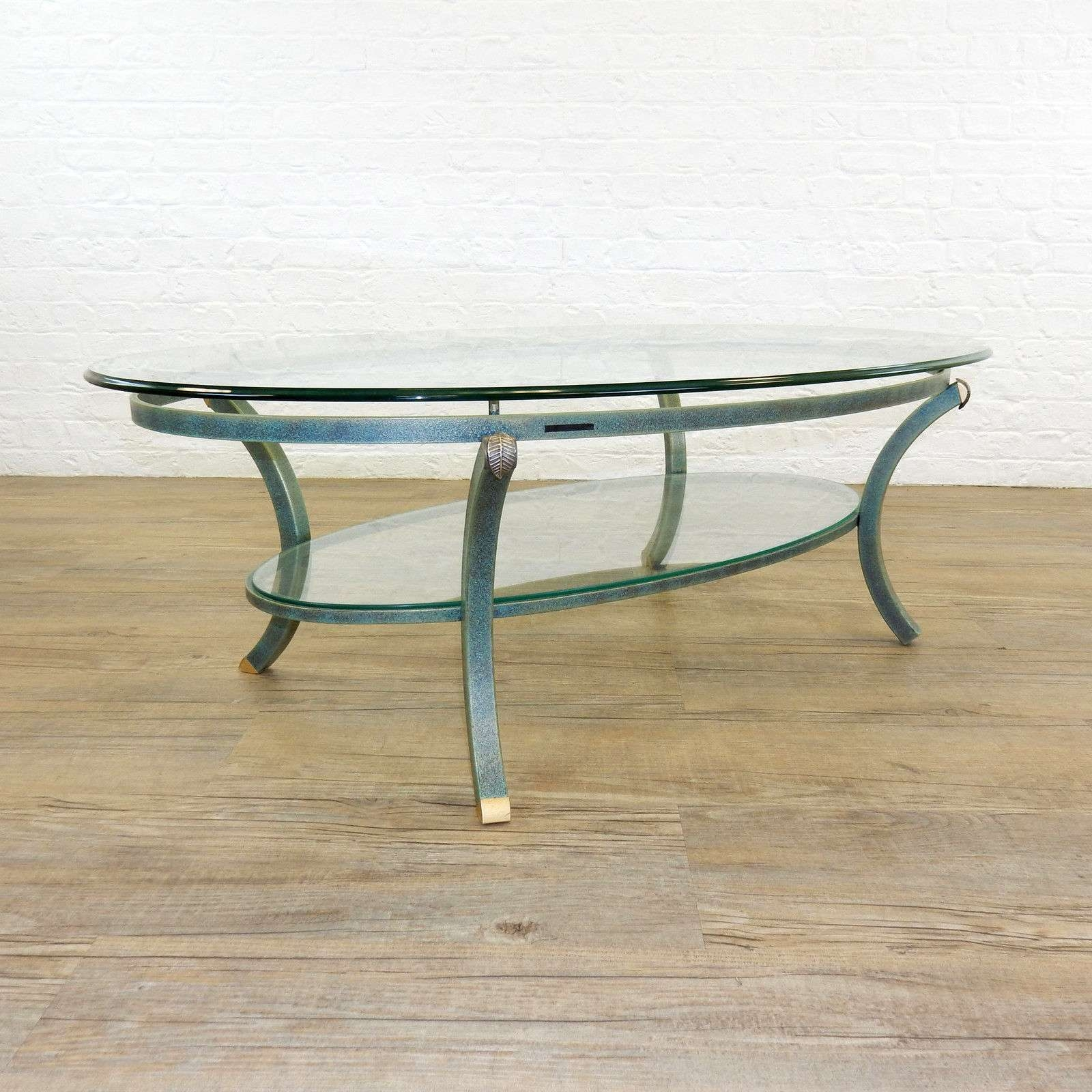 Widely Used Oval Shaped Glass Coffee Tables With Regard To Coffee Tables : Short Round Coffee Table Inch Circular Metal Glass (View 15 of 20)