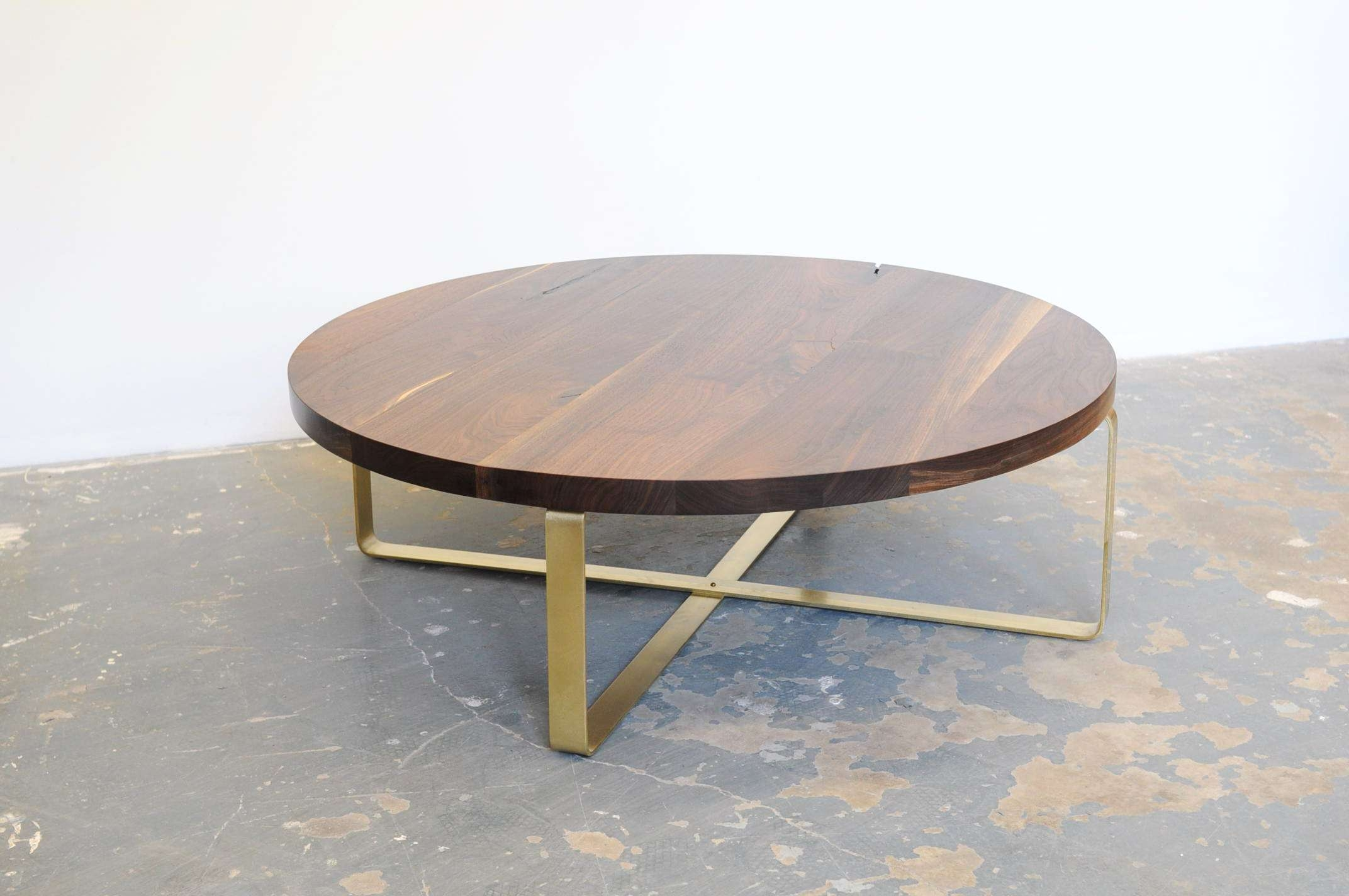 Widely Used Oval Walnut Coffee Tables For Coffee Table : Amazing Round Brass Coffee Table Modern Side Table (View 18 of 20)