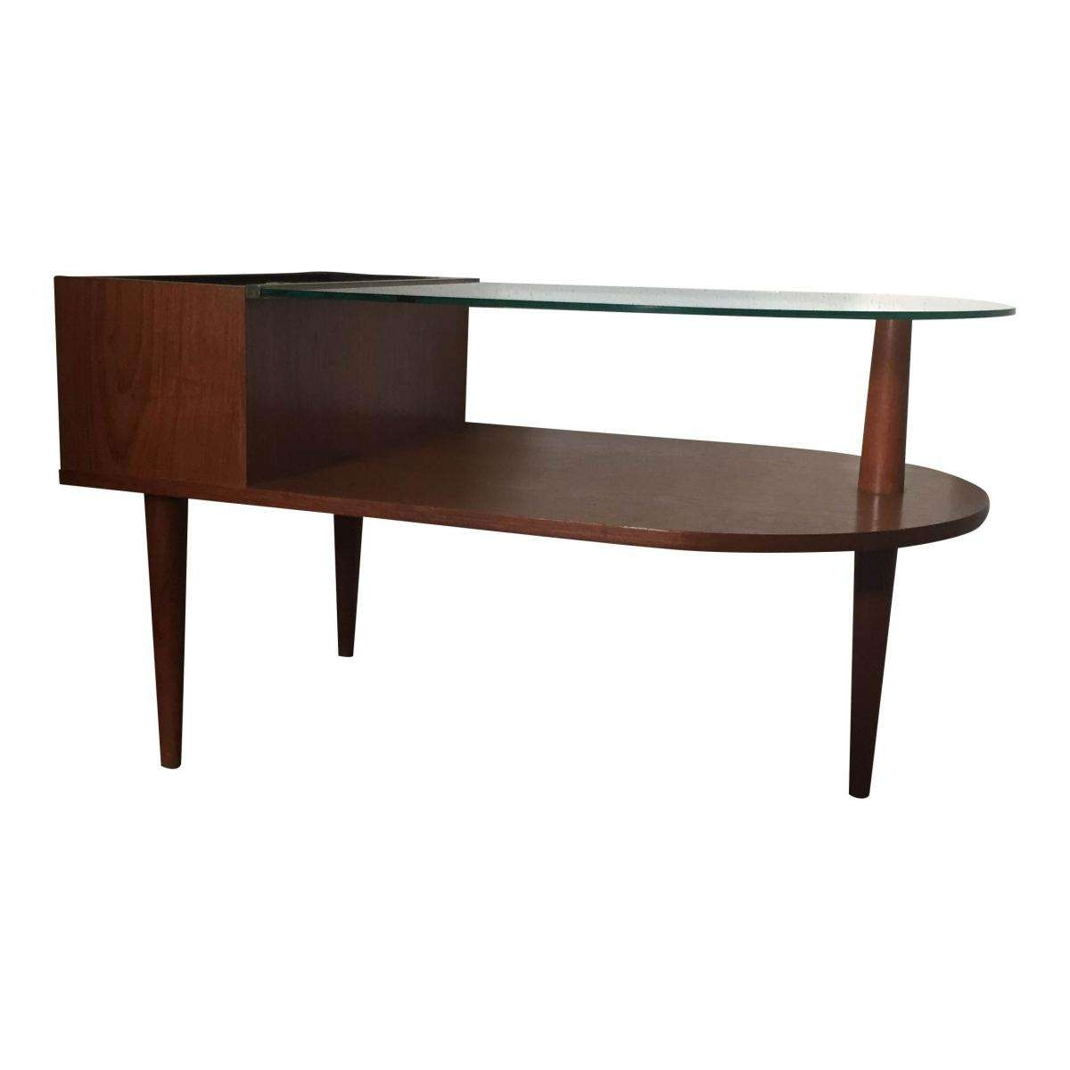 Widely Used Retro Teak Glass Coffee Tables With Regard To Danish Teak Side Table With Glass And Flower Crib From Cfc (View 10 of 20)