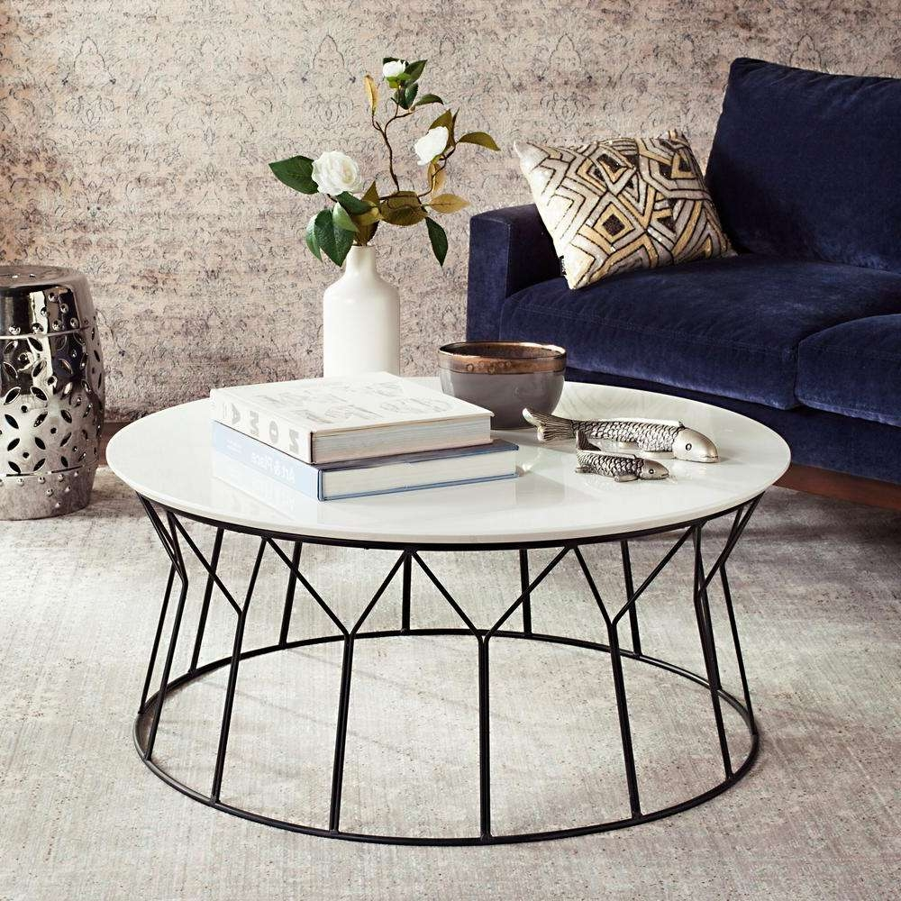 Widely Used Retro White Coffee Tables Inside Safavieh Deion Retro Mid Century Lacquer White Coffee Table (View 5 of 20)
