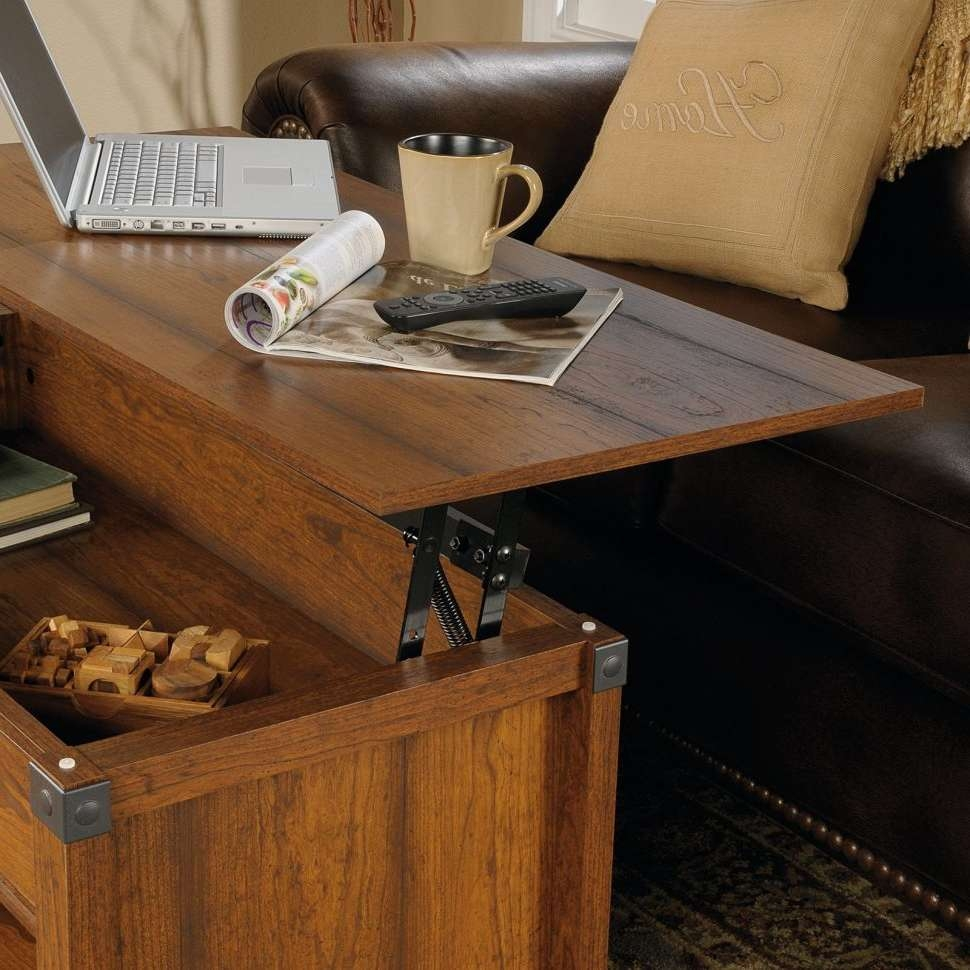 Widely Used Rising Coffee Tables Within Coffee Table : Wonderful Table Top Lift Black Coffee Table Oval (View 20 of 20)