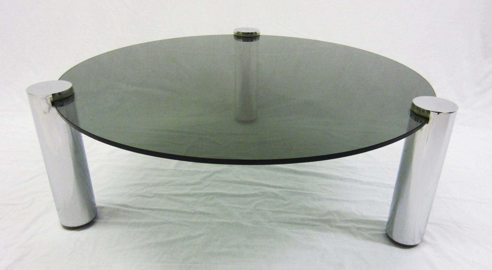 Widely Used Round Chrome Coffee Tables Intended For Round Glass And Chrome Coffee Table From Pieff, 1960s For Sale At (View 3 of 20)