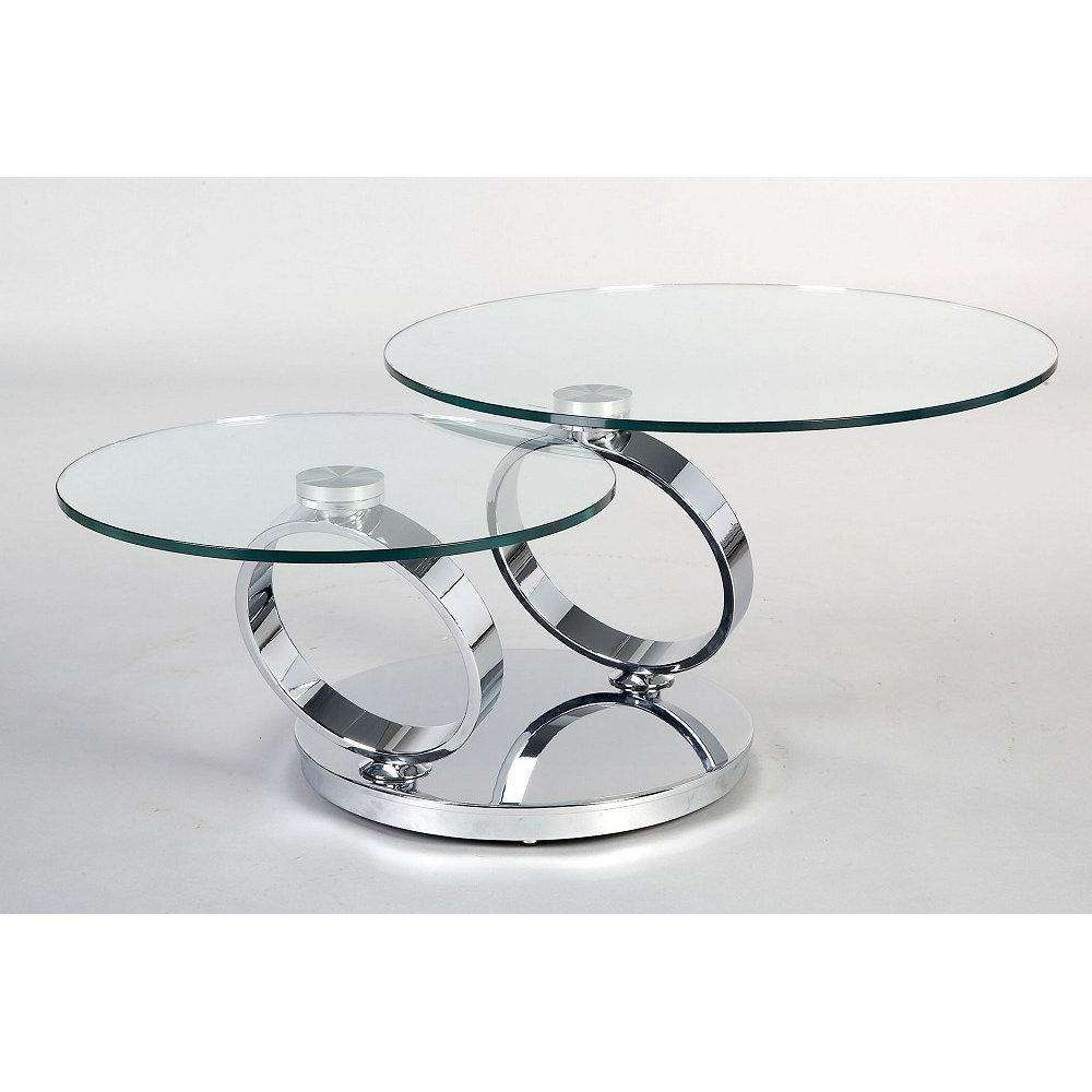 Widely Used Round Swivel Coffee Tables Regarding Furniture: Modern Contemporary Glass Round Coffee Tables With (View 8 of 20)