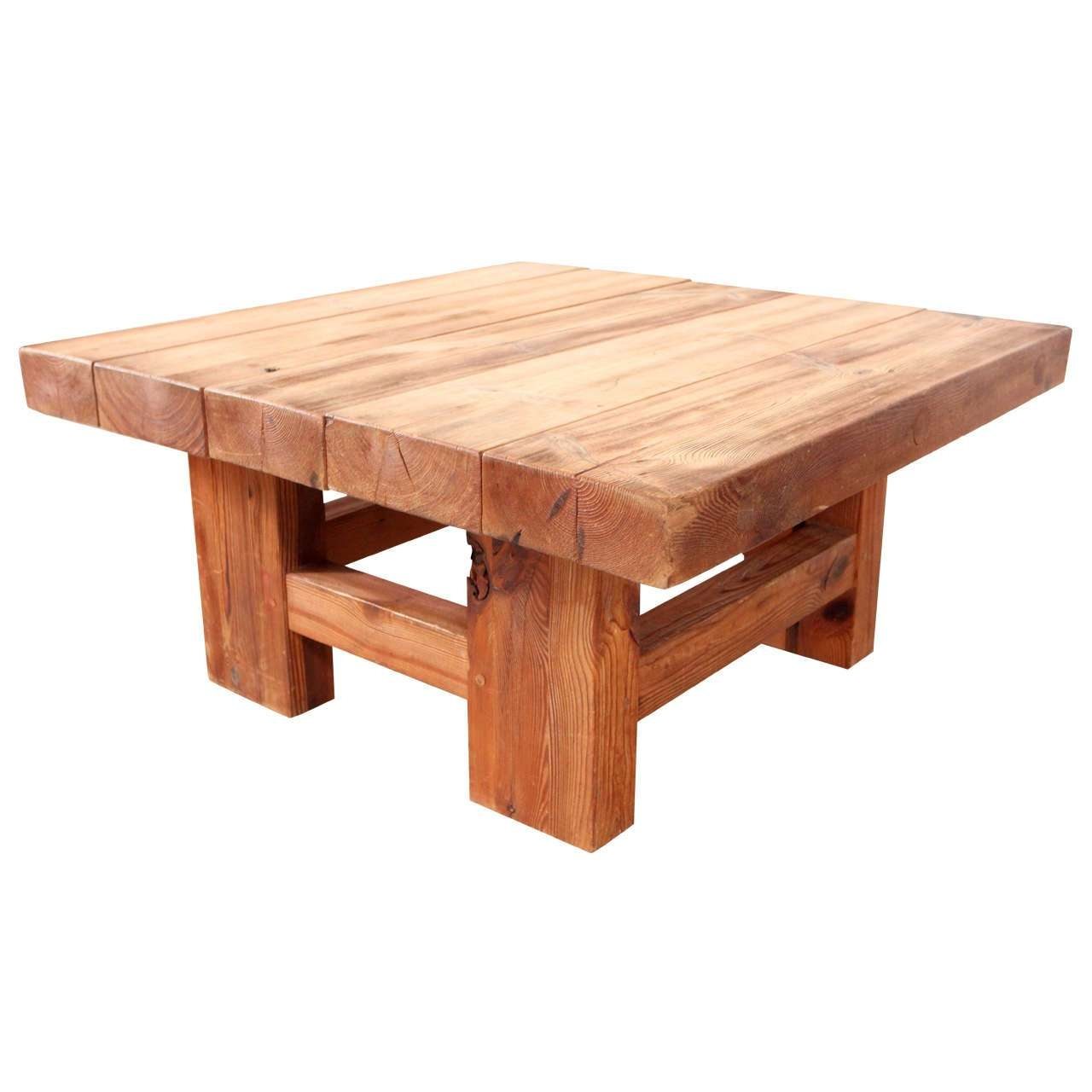 Widely Used Solid Wood Coffee Tables Within Coffee Table : Solid Wood Block Coffee Table Simple Low Rustic (View 20 of 20)