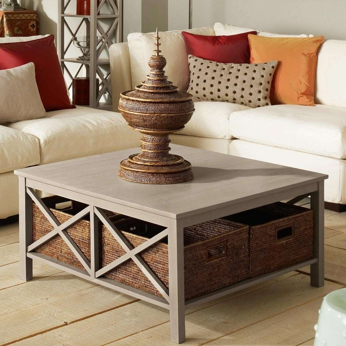 Widely Used Square Coffee Table Storages Pertaining To Square Coffee Table With Storage Coffee Tables Inside Coffee Table (View 17 of 20)