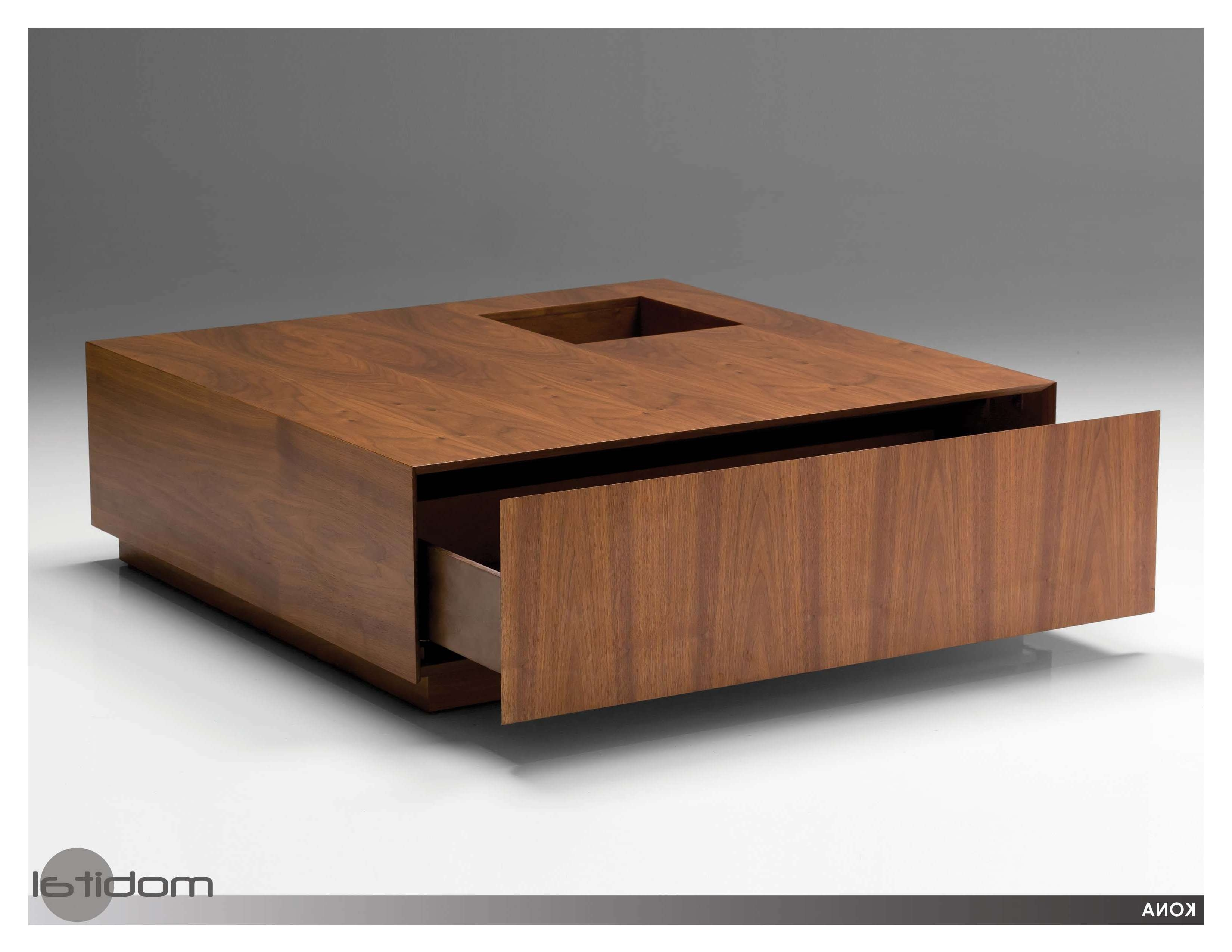 Widely Used Square Coffee Tables With Storage Regarding Coffee Tables : Furniture Custom Low Modern Glass Square Coffee (View 7 of 20)