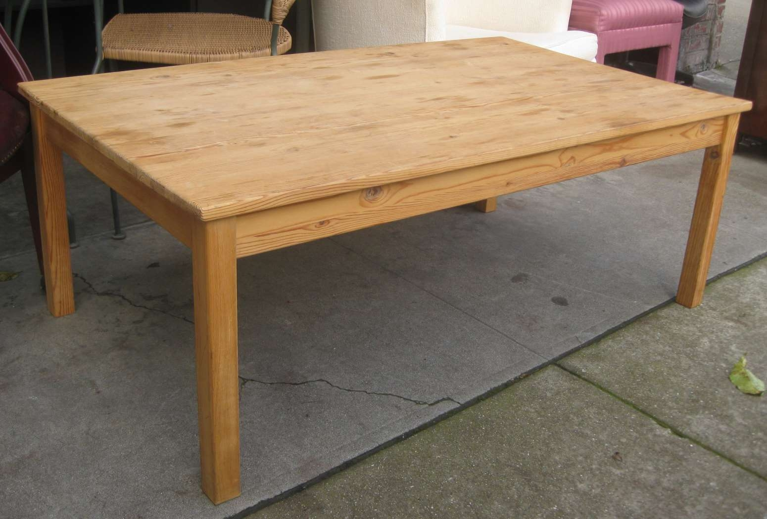 Widely Used Square Pine Coffee Tables Pertaining To Uhuru Furniture & Collectibles: Sold – Pine Coffee Table – $ (View 6 of 20)
