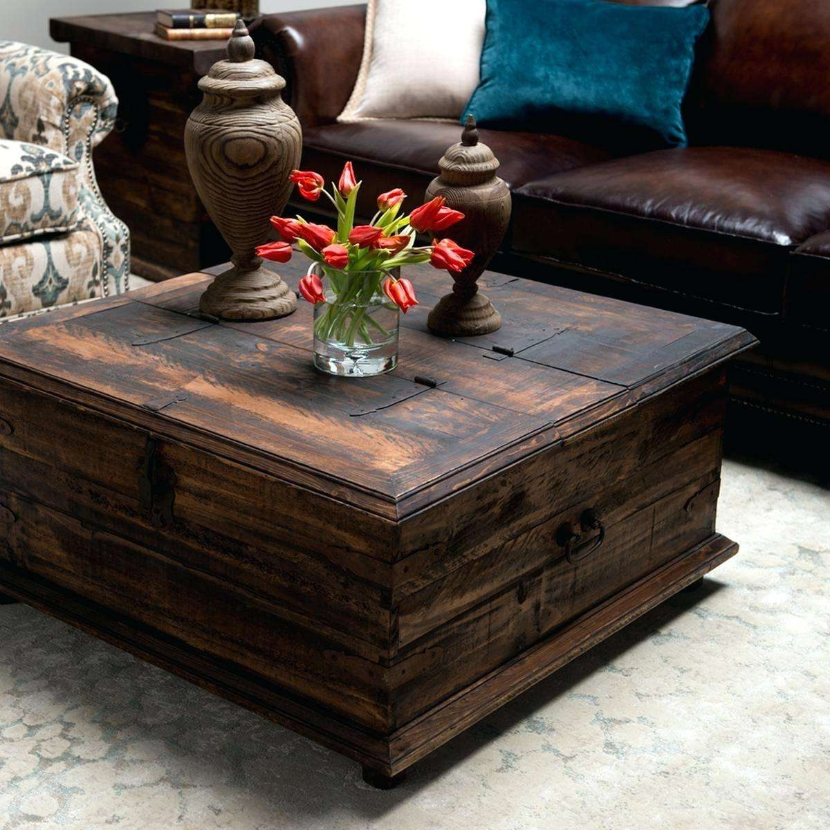 Widely Used Square Storage Coffee Tables Pertaining To Coffee Table: Square Storage Coffee Table (View 7 of 20)