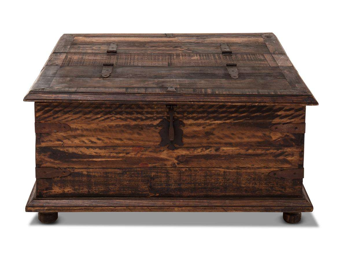 Widely Used Trunks Coffee Tables Regarding Rustic Coffee Table/double Trunk (View 6 of 20)