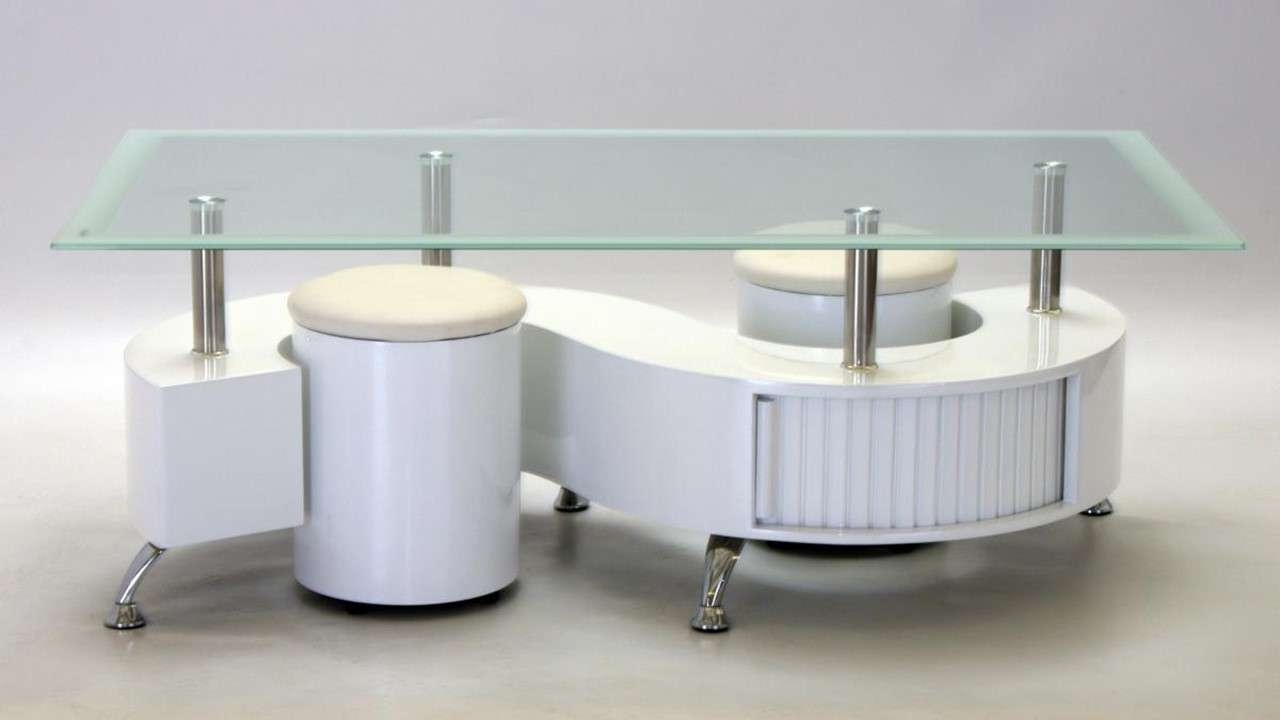 Widely Used White High Gloss Coffee Tables Regarding S Shaped Glass White High Gloss Coffee Table – Homegenies (View 20 of 20)