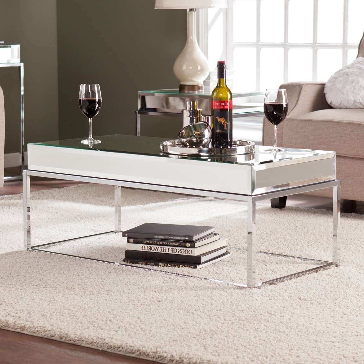 Wildon Home ® Kyla Mirrored Coffee Table & Reviews (View 5 of 20)