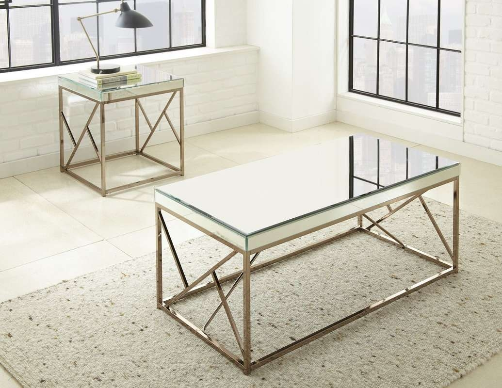 Willa Arlo Interiors Flori 2 Piece Coffee Table Set & Reviews With Regard To Trendy 2 Piece Coffee Table Sets (View 19 of 20)