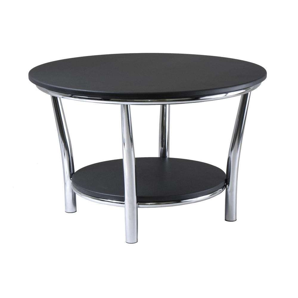 Winsome Wood Maya Black Coffee Table 93230 – The Home Depot Intended For Current White And Black Coffee Tables (View 14 of 20)