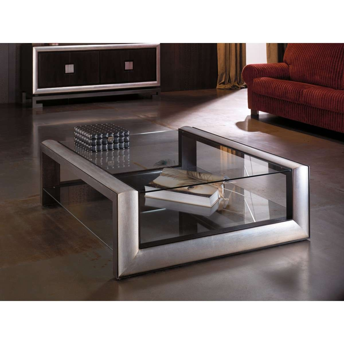 Wood And Glass Coffee Table Throughout Newest Retro Smoked Glass Coffee Tables (View 8 of 20)