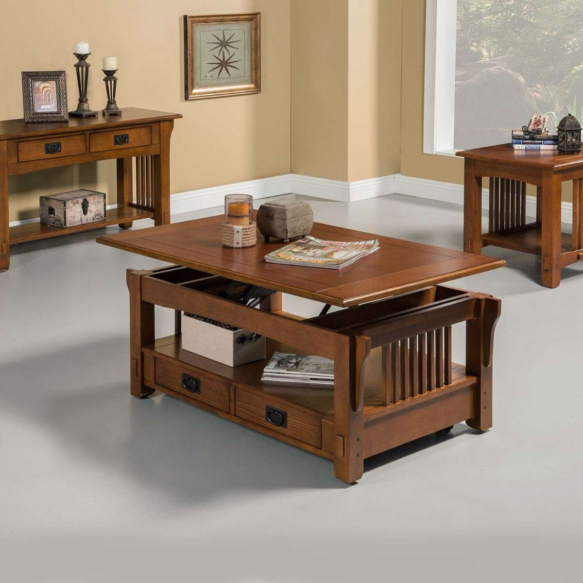 Wood Furniture Coffee Table With Lift Top Storage In Famous Coffee Tables With Lift Top Storage (View 20 of 20)