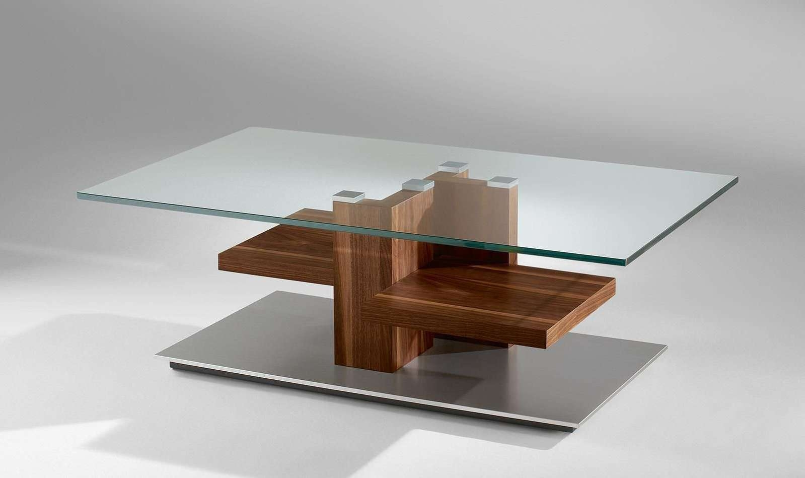 Wood & Glass Coffee Table – Sturdy Wooden Leg Construction Inside Well Known Dark Wood Coffee Tables With Glass Top (View 8 of 23)