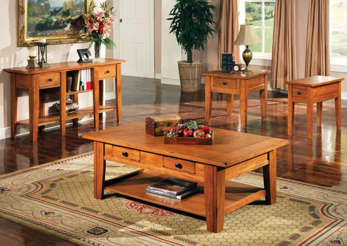 Wooden Coffee Table Set – Living Room Coffee Table Sets, Wooden With Trendy Cherry Wood Coffee Table Sets (View 15 of 20)