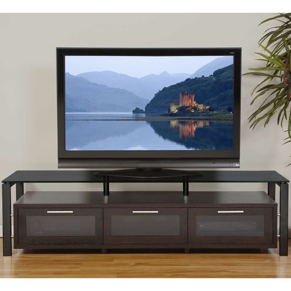 Wooden Tv Entertainment Center In Tv Stands With Long Tv Cabinets Furniture (View 6 of 20)