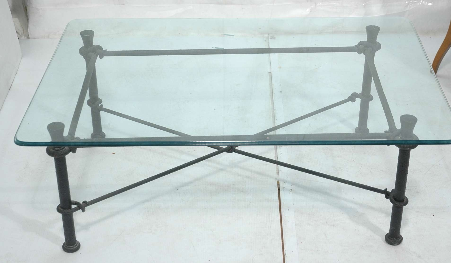 Wrought Iron And Glass Coffee Table In Most Popular Wrought Iron Coffee Tables (View 18 of 20)