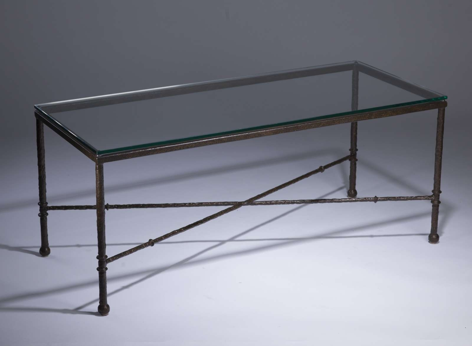 Wrought Iron And Glass Coffee Table Throughout Popular Iron Glass Coffee Table (View 6 of 20)