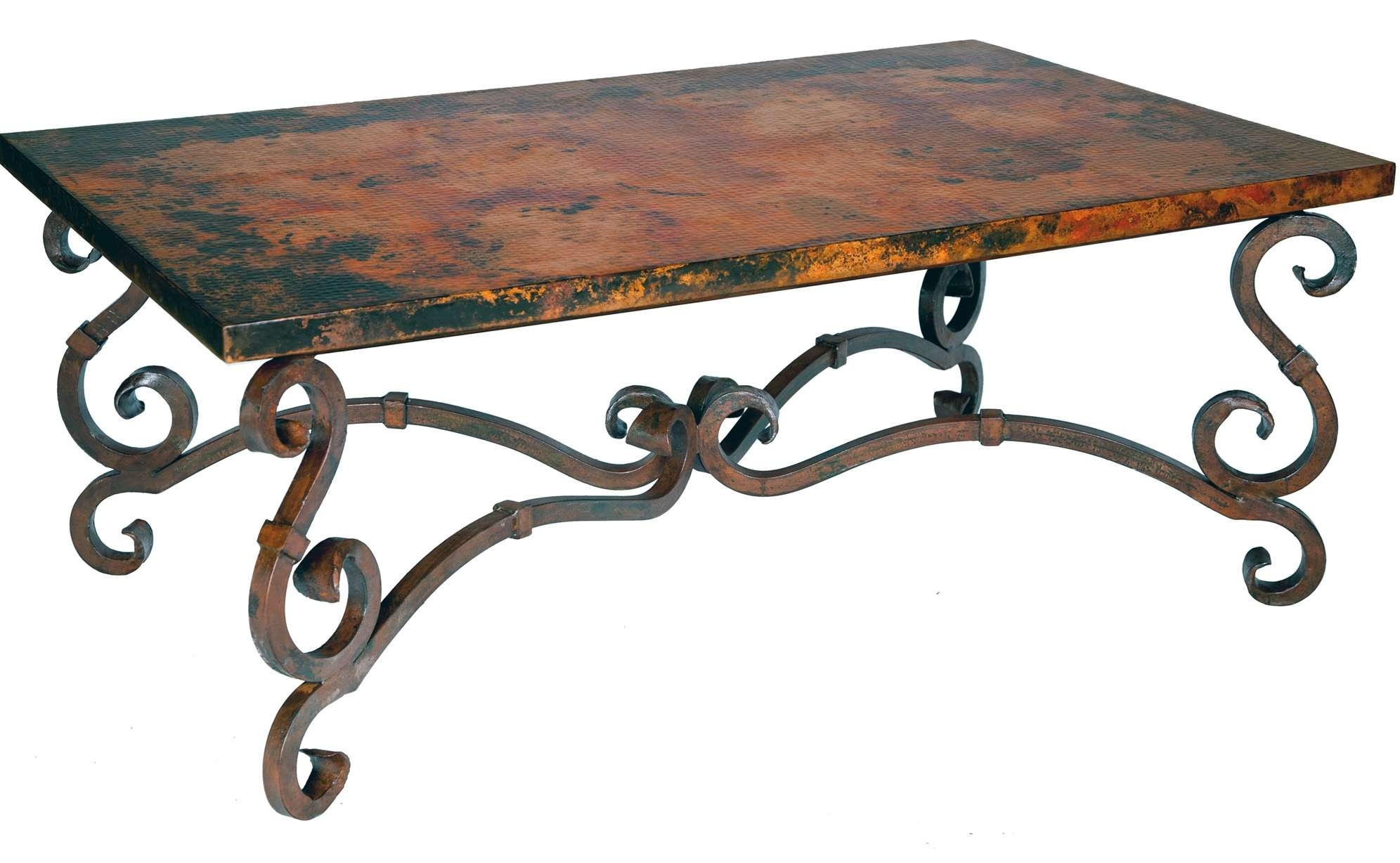 Wrought Iron Coffee Table With Glass And Wooden Round With Regard To Best And Newest Wrought Iron Coffee Tables (View 20 of 20)
