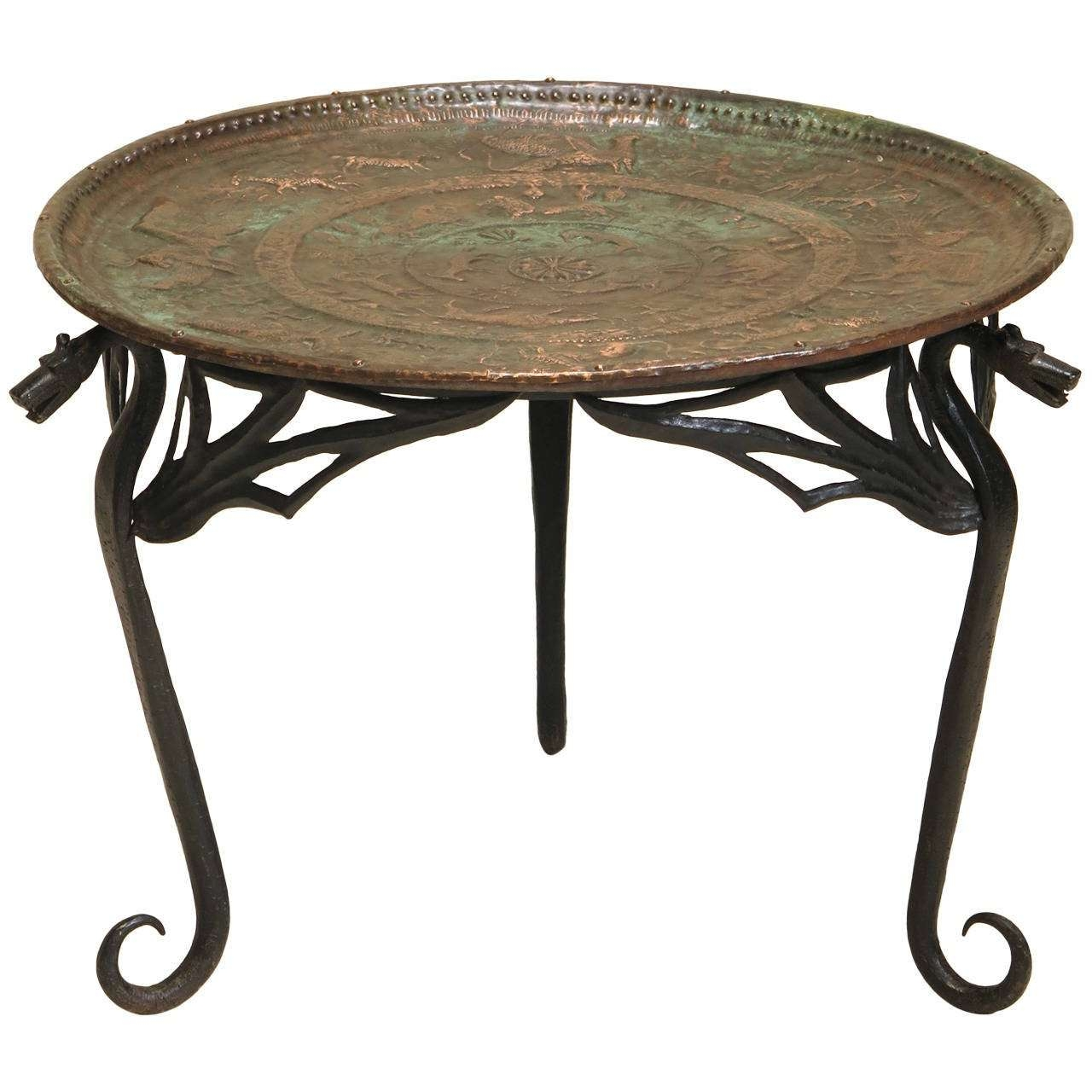 "Wrought Iron ""dragon"" Coffee Table With Copper Top, France, Early With Regard To Well Liked Dragon Coffee Tables (View 9 of 20)"