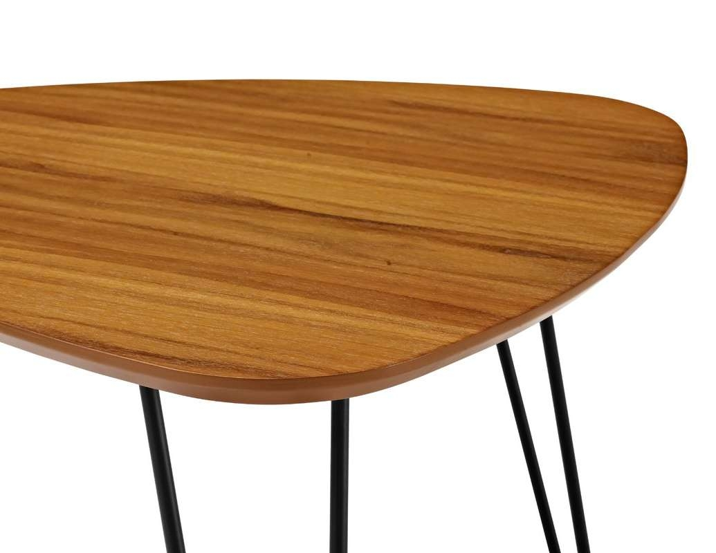 Wrought Studio Bisson Hairpin Leg Wood 2 Piece Coffee Table Set Inside Popular 2 Piece Coffee Table Sets (View 20 of 20)