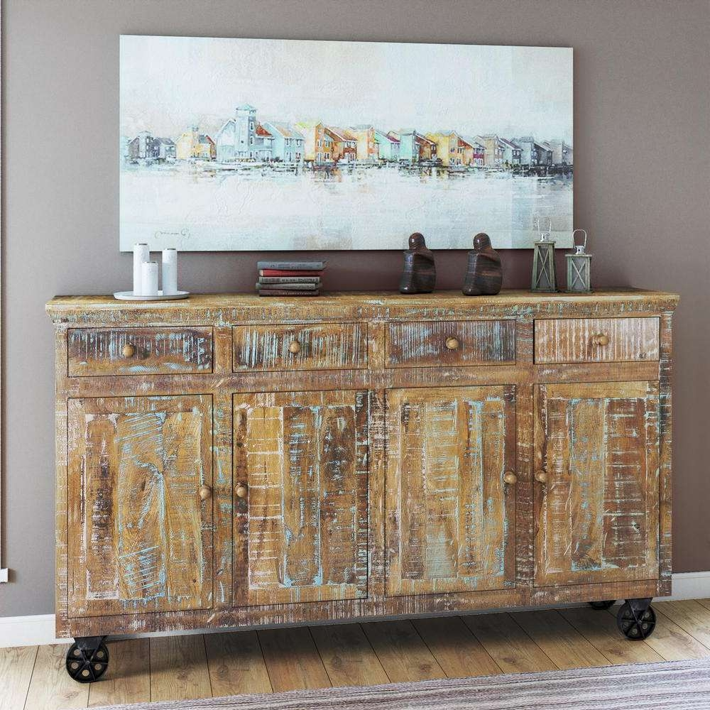Yosemite Home Decor Brown Trunk Yfur Sba5162 – The Home Depot Regarding Sideboards Decors (View 19 of 20)