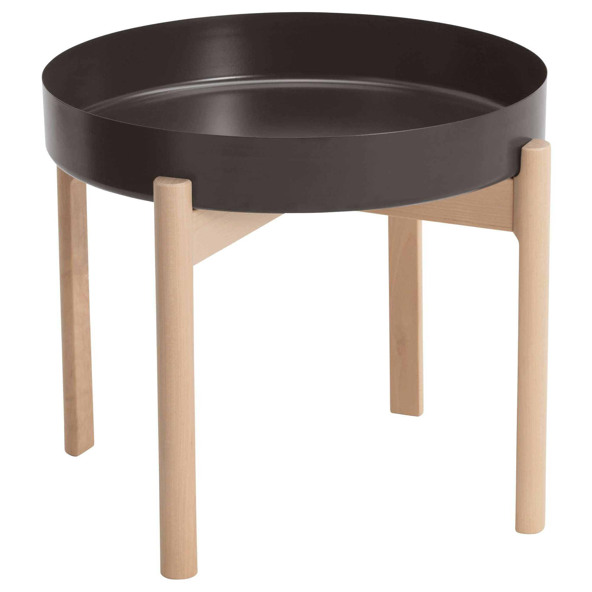 Ypperlig Coffee Table Dark Grey/birch 50 Cm – Ikea With 2017 Birch Coffee Tables (View 10 of 20)